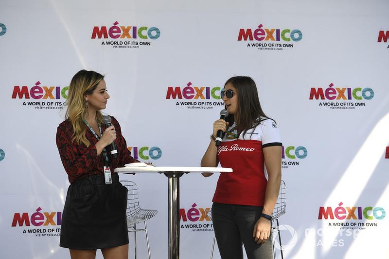 Tatiana Calderón, piloto de pruebas del equipo Alfa Romeo Sauber F1
