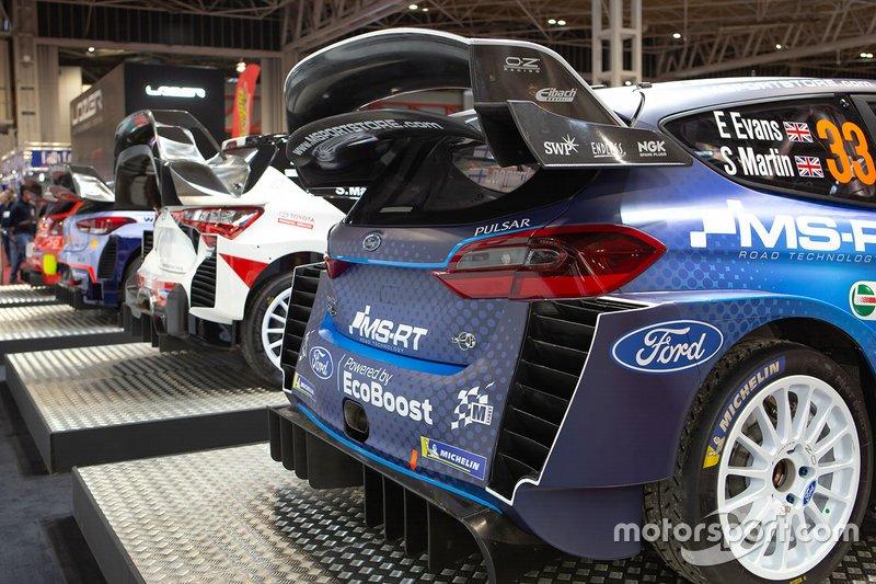 La Ford Fiesta WRC M-Sport di Elfyn Evans e Scott Martin