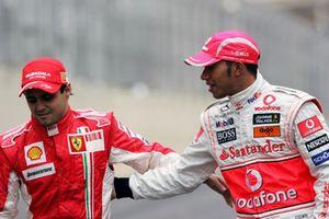 Фелипе Масса, Ferrari и Льюис Хэмилтон, McLaren