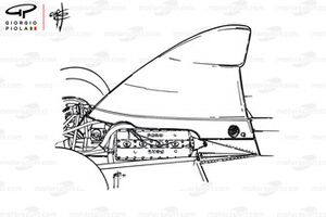 McLaren M23 airbox on engine