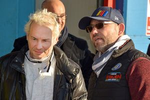 Jacques Villeneuve with Jerome Galpin, CEO NASCAR Euro Series