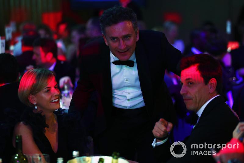 Susie Wolff, Alejandro Agag y Toto Wolff