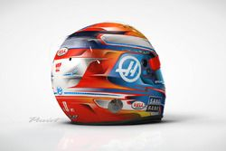 Helmet of Romain Grosjean, Haas F1 Team