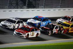 Ryan Blaney, Wood Brothers Racing Ford; Brad Keselowski, Team Penske Ford; Austin Dillon, Richard Ch