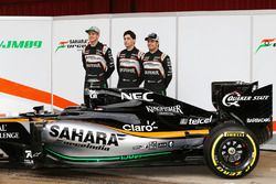 Sergio Perez, Sahara Force India F1, Alfonso Celis Jr., Sahara Force India F1 und Nico Hulkenberg, S