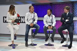 Felipe Massa, Williams and Valtteri Bottas, Williams with Manfredo Rossi di Montelera and Federica Masolin