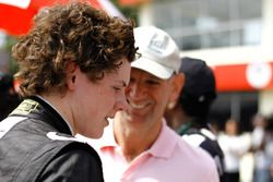 Harrison Newey and Adrian Newey