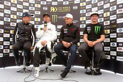 Conférence de presse : Mattias Ekström, EKS RX, Petter Solberg, Petter Solberg World RX Team, Janis Baumanis, World RX Team Austria, et Andreas Bakkerud, Hoonigan Racing Division