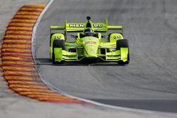 Brad Keselowski, Team Penske drives Simon Pagenaud's IndyCar