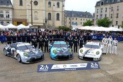 Халед Аль-Кубайси, Патрик Лонг, Давид Хайнемайер Ханссон, #88 Abu Dhabi Proton Competition Porsche 9