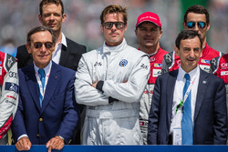 FIA Action for Road Safety photoshoot: ACO President Pierre Fillon, actor Brad Pitt with drivers