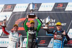 Podium: winner Mark Winterbottom, Prodrive Racing Australia Ford, second place Scott McLaughlin, Garry Rogers Motorsport Volvo, third place Craig Lowndes, Triple Eight Race Engineering Holden