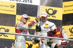 Podium: Nico Mテシller, Audi Sport Team Abt Sportsline, Audi RS 5 DTM; Robert Wickens, Mercedes-AMG Te