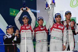 Podium LMP1: second place #8 Audi Sport Team Joest Audi R18: Lucas di Grassi, Loic Duval, Oliver Jar
