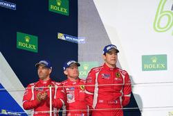 Podium GTE AM: second place #83 AF Corse Ferrari 458 Italia: Francois Perrodo, Emmanuel Collard, Rui