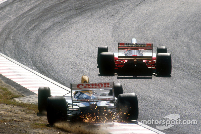 Nigel Mansell, Williams, Ayrton Senna, McLaren