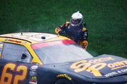 Brendan Gaughan, Richard Childress Racing Chevrolet después de choque