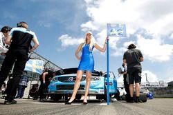 Chica de la parrilla para Thed Björk, Polestar Cyan Racing, Volvo S60 Polestar TC1