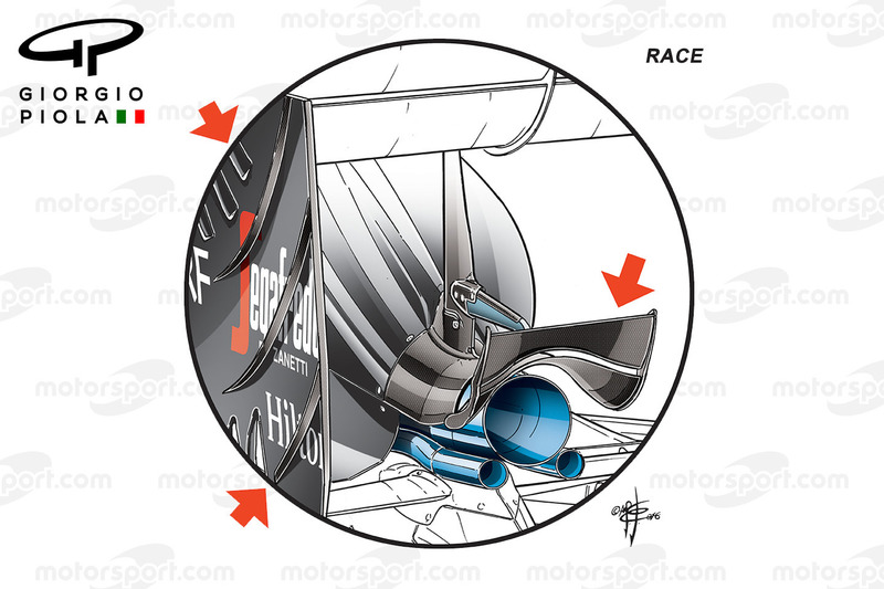 McLaren MP4/31: Monkey-Seat, Grand Prix von Monaco, Rennversion