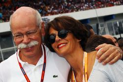 Dr. Dieter Zetsche, Daimler AG CEO on the grid with his wife Gisele Zetsche