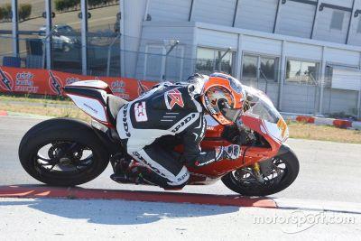 Marco Melandri testet Ducati