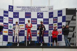 Podium race 2: Mick Schumacher, Prema Powerteam, Job Van Uitert, Jenzer Motorsport, Diego Bertonelli