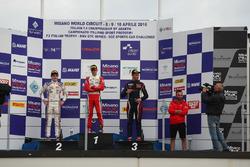 Podium race 2: Mick Schumacher, Prema Powerteam, Job Van Uitert, Jenzer Motorsport, Diego Bertonelli, RB Racing