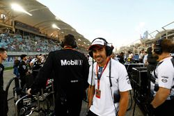 Fernando Alonso, McLaren op de grid