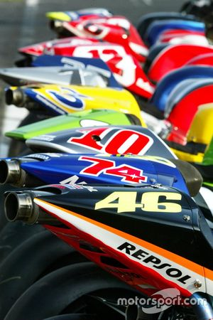 Moto GP bike line-up