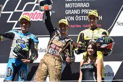 Podium: second place Franco Morbidelli, Marc VDS, race winner Johann Zarco, Ajo Motorsport, third pl