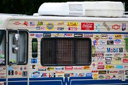 Wohnwagen eines NASCAR-Fans