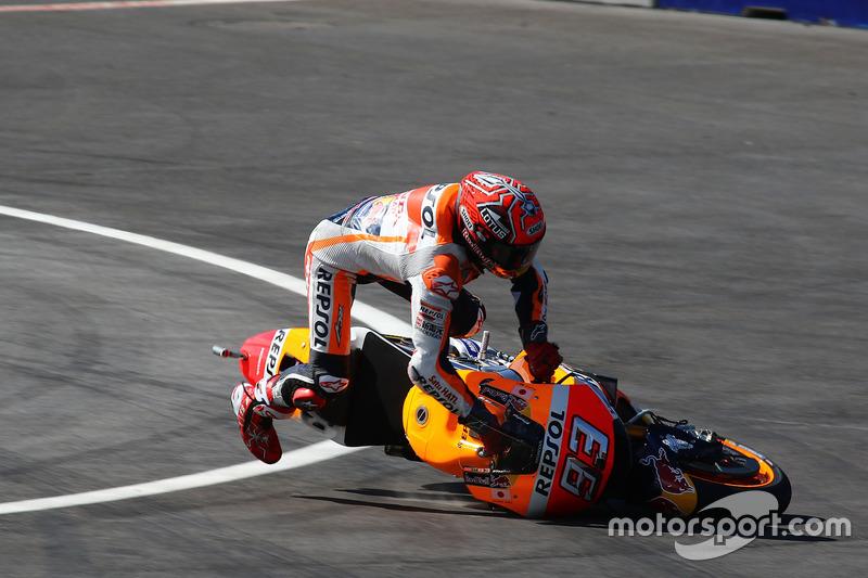 Marc Marquez, Repsol Honda Team, accidente