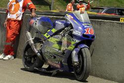 Crashed bike of Kenny Roberts, Jr.
