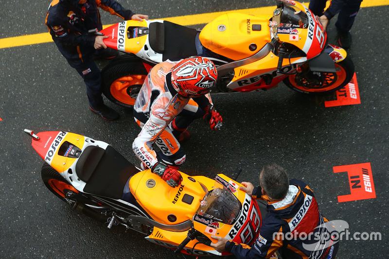 Marc Marquez, Repsol Honda Team in de pitstraat