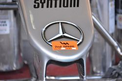 Lewis Hamilton, Mercedes AMG F1 W07 Hybrid, nose cone detail