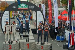 Podium: Winner Sébastien Ogier, Julien Ingrassia, Volkswagen Polo WRC, Volkswagen Motorsport; second