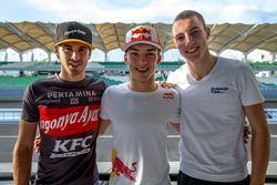 Antonio Giovinazzi, PREMA Racing; Pierre Gasly, PREMA Racing and Raffaele Marciello, RUSSIAN TIME