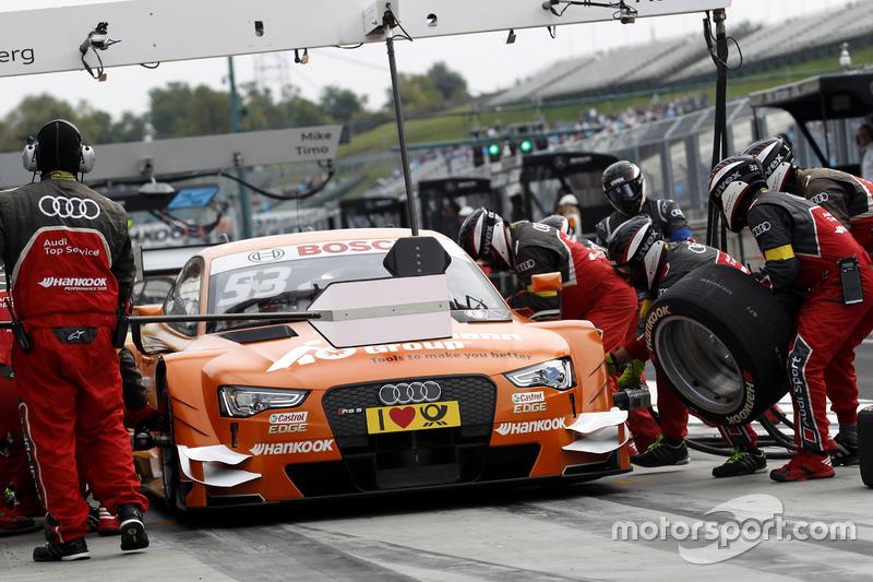Pit stop, Jamie Green, Audi Sport Team Rosberg, Audi RS 5 DTM