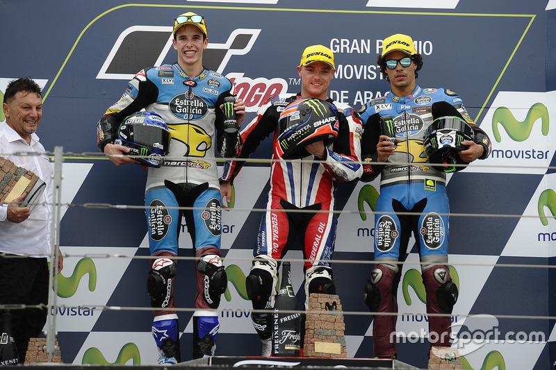 Alex Marquez, Marc VDS; Sam Lowes, Federal Oil Gresini Moto2; Franco Morbidelli, Marc VDS