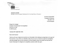 Anneliese Dodds letter to the European Commissioner for Competition - Part 1