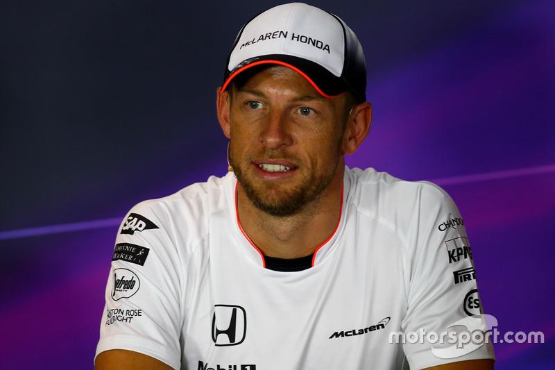 Jenson Button, McLareni FIA Basın Toplantısı