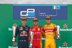 Podium: Norman Nato, Racing Engineering; Pierre Gasly, PREMA Racing and Antonio Giovinazzi, PREMA Ra