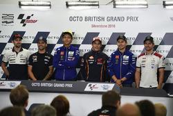 Eugene Laverty, Aspar MotoGP Team; Hector Barbera, Avintia Racin; Valentino Rossi, Honda Team, Marc