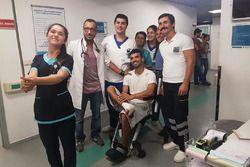 Kenan Sofuoğlu Hastane Çalışanlarıyla