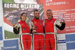 Gara 1 podio Radical, Michele Esposito (Autosport Sorrento,Radical Suzuki 1585-RAD #97), Ida Petrill