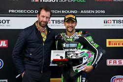 Le poleman Randy Krummenacher, Puccetti Racing Kawasaki