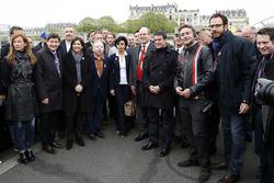Patrick Kanner, Ministro de deportes de Francia, Anne Hidalgo, alcalde de París, Jean Todt, Presiden