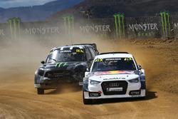 Toomas Heikkinen, EKS RX, et Liam Doran, JRM Racing