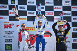 Podium GT-Cup: 1. Aled Udell, Global Motorsports Group; 2. Sloan Urry, TruSpeed Autosport; 3. Presto