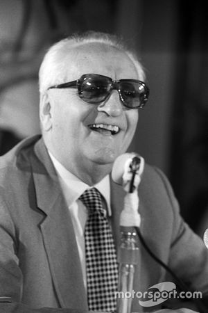 Enzo Ferrari at a Ferrari Press Conference at Maranello, c. Late 1975